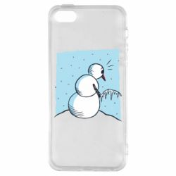 Чехол для iPhone5/5S/SE Snowman Peeing