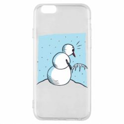Чехол для iPhone 6/6S Snowman Peeing