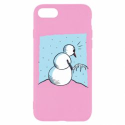Чехол для iPhone 8 Snowman Peeing