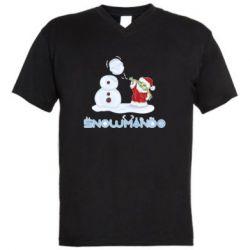Мужская футболка  с V-образным вырезом Snowmando