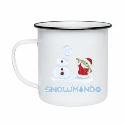 Кружка эмалированная Snowmando