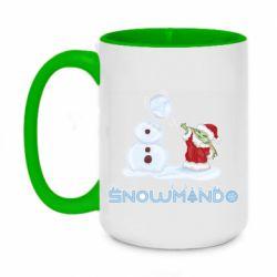 Кружка двухцветная 420ml Snowmando