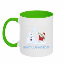 Кружка двухцветная 320ml Snowmando