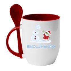 Кружка с керамической ложкой Snowmando