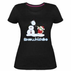 Женская стрейчевая футболка Snowmando