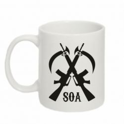 Кружка 320ml SoA weapons and scythe