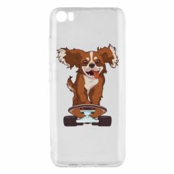 Чехол для Xiaomi Mi5/Mi5 Pro Собака Кавалер на Скейте