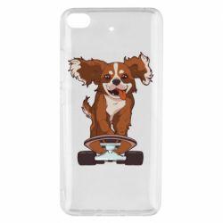 Чехол для Xiaomi Mi 5s Собака Кавалер на Скейте