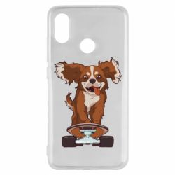 Чехол для Xiaomi Mi8 Собака Кавалер на Скейте