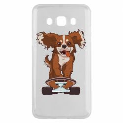 Чехол для Samsung J5 2016 Собака Кавалер на Скейте