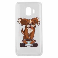 Чехол для Samsung J2 Core Собака Кавалер на Скейте
