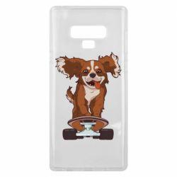 Чехол для Samsung Note 9 Собака Кавалер на Скейте