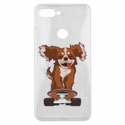 Чехол для Xiaomi Mi8 Lite Собака Кавалер на Скейте