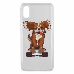 Чехол для Xiaomi Mi8 Pro Собака Кавалер на Скейте