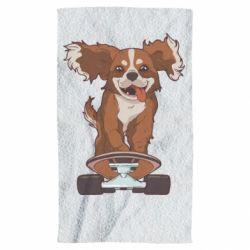 Полотенце Собака Кавалер на Скейте