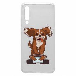Чехол для Xiaomi Mi9 Собака Кавалер на Скейте