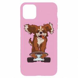 Чехол для iPhone 11 Собака Кавалер на Скейте