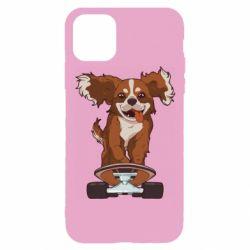 Чехол для iPhone 11 Pro Собака Кавалер на Скейте
