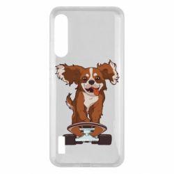 Чохол для Xiaomi Mi A3 Собака Кавалер на Скейте