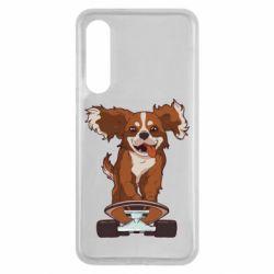 Чехол для Xiaomi Mi9 SE Собака Кавалер на Скейте