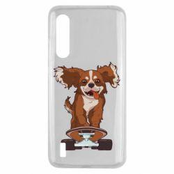 Чехол для Xiaomi Mi9 Lite Собака Кавалер на Скейте