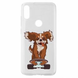 Чехол для Xiaomi Mi Play Собака Кавалер на Скейте