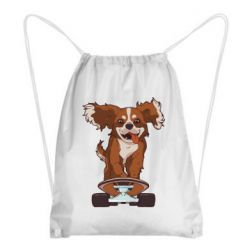 Рюкзак-мешок Собака Кавалер на Скейте