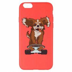 Чехол для iPhone 6 Plus/6S Plus Собака Кавалер на Скейте