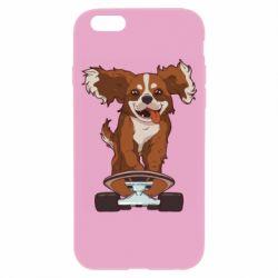 Чехол для iPhone 6/6S Собака Кавалер на Скейте