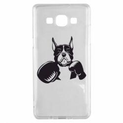 Чохол для Samsung A5 2015 Собака в боксерських рукавичках