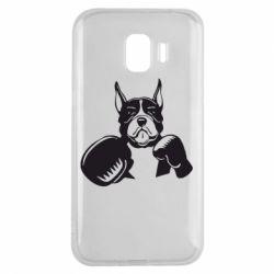 Чохол для Samsung J2 2018 Собака в боксерських рукавичках