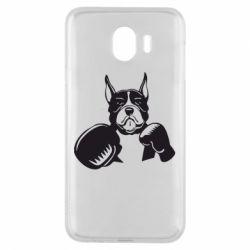 Чохол для Samsung J4 Собака в боксерських рукавичках
