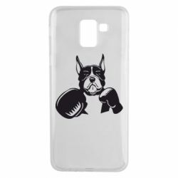 Чохол для Samsung J6 Собака в боксерських рукавичках