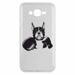 Чохол для Samsung J7 2015 Собака в боксерських рукавичках