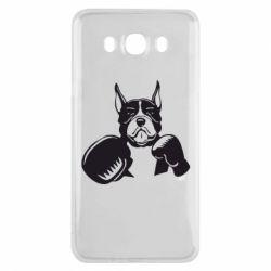 Чохол для Samsung J7 2016 Собака в боксерських рукавичках