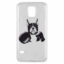 Чохол для Samsung S5 Собака в боксерських рукавичках