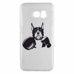 Чохол для Samsung S6 EDGE Собака в боксерських рукавичках