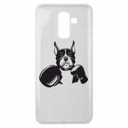 Чохол для Samsung J8 2018 Собака в боксерських рукавичках