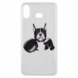 Чохол для Samsung A6s Собака в боксерських рукавичках