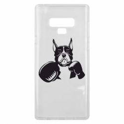 Чохол для Samsung Note 9 Собака в боксерських рукавичках