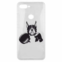 Чехол для Xiaomi Mi8 Lite Собака в боксерских перчатках