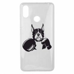 Чехол для Xiaomi Mi Max 3 Собака в боксерских перчатках