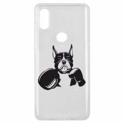 Чехол для Xiaomi Mi Mix 3 Собака в боксерских перчатках