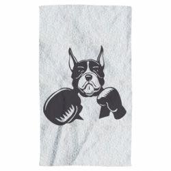 Рушник Собака в боксерських рукавичках