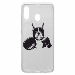 Чохол для Samsung A30 Собака в боксерських рукавичках