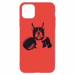 Чохол для iPhone 11 Собака в боксерських рукавичках