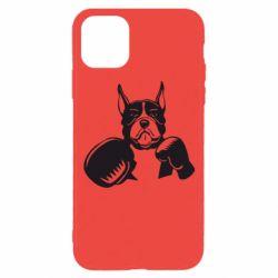 Чохол для iPhone 11 Pro Собака в боксерських рукавичках