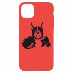 Чохол для iPhone 11 Pro Max Собака в боксерських рукавичках