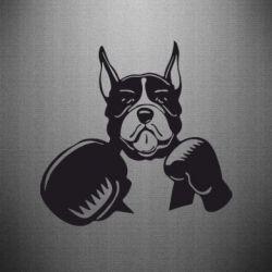 Наклейка Собака в боксерских перчатках - FatLine