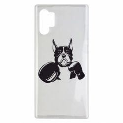 Чохол для Samsung Note 10 Plus Собака в боксерських рукавичках